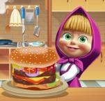 Masha and the Bear: Cooking Big Burger