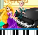 Elsa and Rapunzel Piano Contest