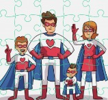 Super Hero Family Jigsaw
