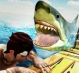 Raft Angry Shark Hunter