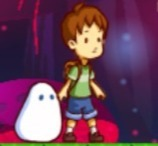 Boy and Bubble Monster