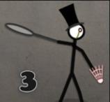 Stick Figure Badminton 3