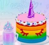 Princesses Unicorn Cakes And Drinks