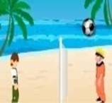 Ben 10 vs Naruto: Beach Ball Game