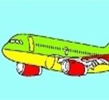 Colorindo o Avião de Passageiro