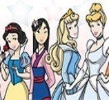 Colorir as Princesas Disney