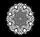 Colorir Mandala Africana