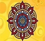 Colorir Mandala Indiana