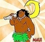 Colorir Maui de Moana