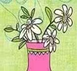 Colorir o Vaso de Margaridas