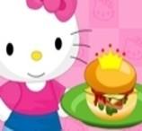 Hello Kitty prepara Hambúrguer Especial