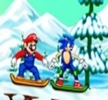 Mario and Sonic - Snowboard