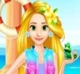 Na Praia com a Rapunzel
