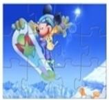 O Rato Mickey e a Prancha de Neve