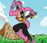 Pintar Power Ranger Rosa
