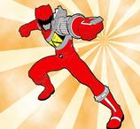 Pintar Power Ranger Vermelho
