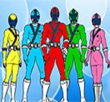 Jogos de Pintar Power Rangers