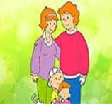 Pinte a Família de Caillou