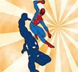 Pinte Homem Aranha e Venom