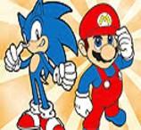 Pinte Mario e Sonic