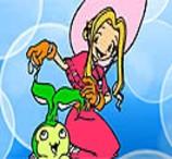 Pinte Mimi e Palmon dos Digimon