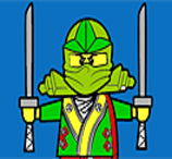 Pinte Ninja Verde Lego