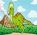 Pinte o Dinossauro Cabeçudo