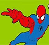Pinte o Homem Aranha Saltando