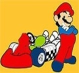 Pinte o Mario Com Seu Kart