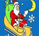Pinte o Papai Noel Em Seu Trenó
