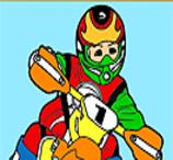 Pinte o Piloto de Motocross