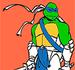 Pinte o Tartaruga Ninja Leonardo