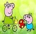 Pinte Peppa Pig Brincando