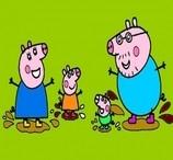 Pinte Peppa Pig Nas Poças de Lama