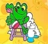 Pinte Sapo Lavando o Pé