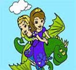 Pinte Sofia e Amber no Seu Dragão