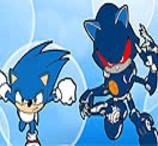 Pinte Sonic e Metal Sonic