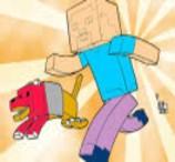 Pinte Steve e Lobo de Minecraft