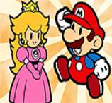 Pinte Super Mario e Princesa Peach