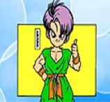 Pinte Trunks de Dragon Ball