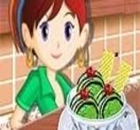 Sara Prepara Sorvete de Chá