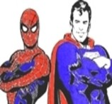 Spidey and Superman Coloring