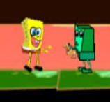 Spongebob and Zombie at The Cemetery