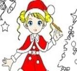 Vamos Colorir a Mamãe Noel?
